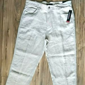 Tommy Hilfiger Linen Pants Tan Size 38x30 NWT